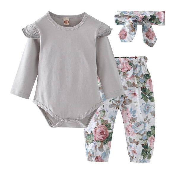 Baby Girls Cotton Full Sleeve Floral O-Neck Pullover Regular Clothes
