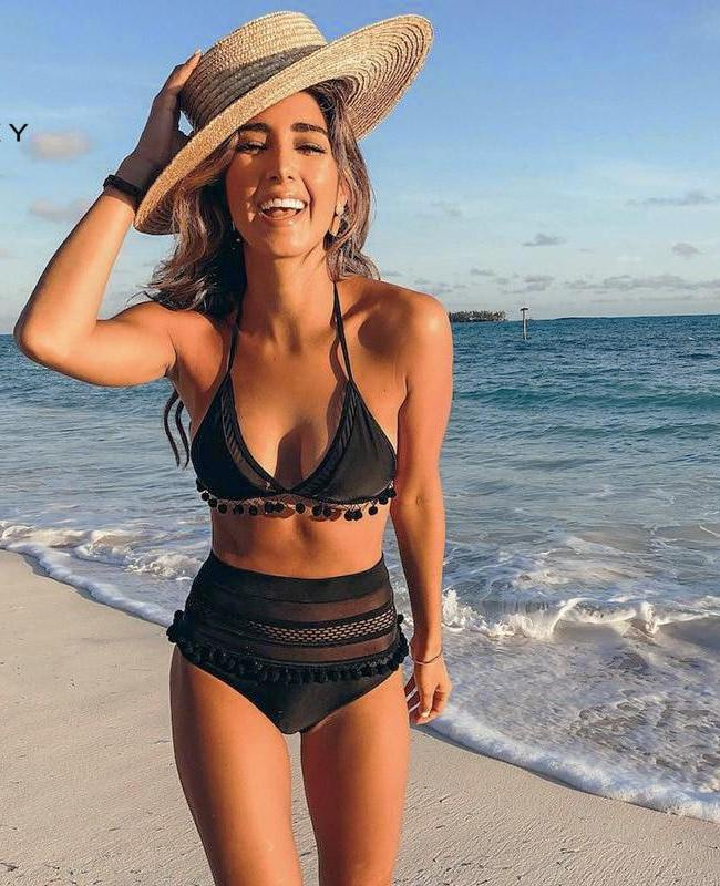 Trending Hot 2019 Sexy Mesh High Waist Swimsuit Bikini Set