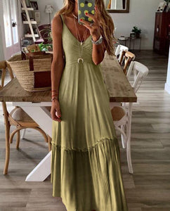V Neck Summer Maxi Dresses in 4 Colors - Loving Lane Co