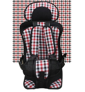 Red and Black Travel Car Seats Convertible Portable Airplane Booster Seat