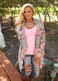 New! Women's Fall Pink and Grey Cardigans Petite to Plus Sizes