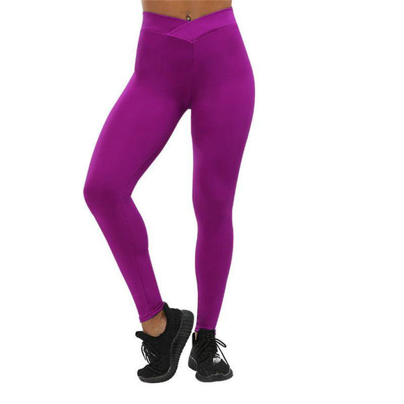 Solid Low Cut Waist Booty Shaping Leggings in 5 Colors