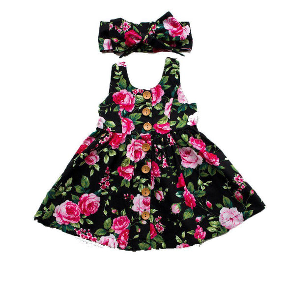 Girl's printed dress