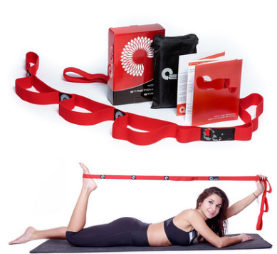 Yoga Stretching Strap Bag and Instructions Book