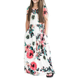 Maxi Girls Summer Dresses Elegant Kids Clothes Unicorn Dress Girls Dress Long Bohemian