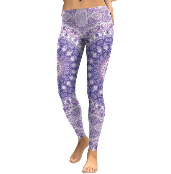 Leggings Women's Purple Mandala Pants - Loving Lane Co