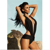 Sale! Womens V-neck Sexy Halter One-Piece Swimsuit