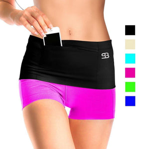 Workout Shorts with Cellphone Waist Pouch