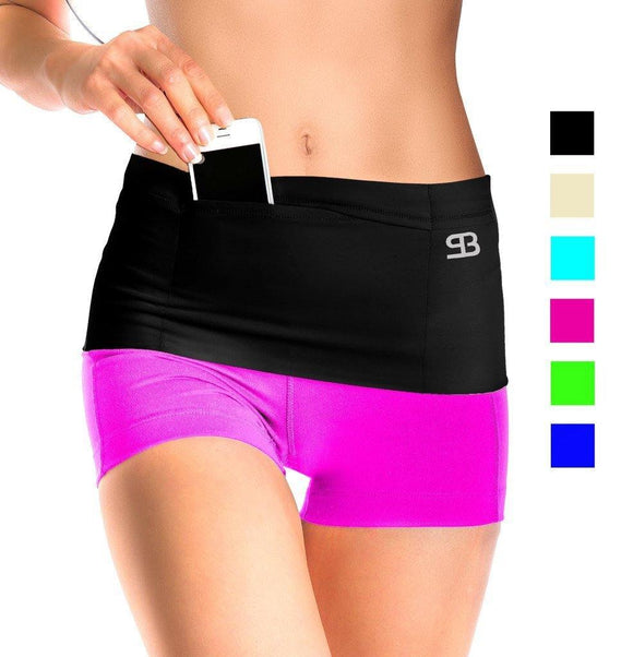 Workout Shorts with Cellphone Waist Pouch - Loving Lane Co