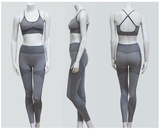 New Yoga Pants Matching Sports Bra Top Sets in 6 Colors