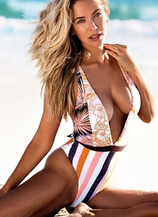 One-piece swimsuit deep V sexy bikini