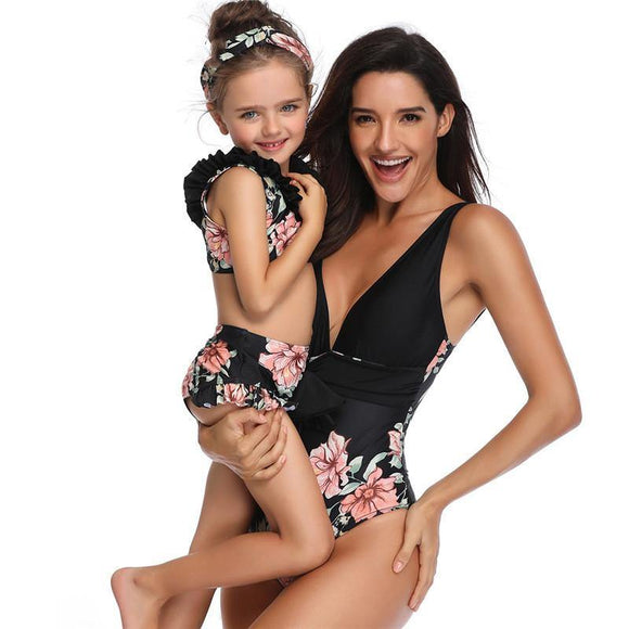 Mom and Daughter Matching Swimwear Sets