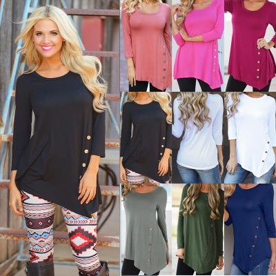 New Womens Fall Longsleeve Shirts in 10 Colors Small to Plus Sizes