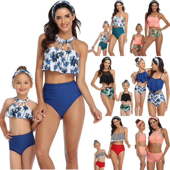 2020 Mommy Daughter Matching Swimwear Sets High New Matching Swimsuits