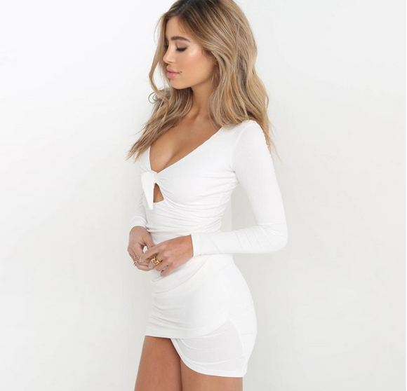 Super Sexy Perfect Holiday Party Cocktail Dress in White Black and Silver - Loving Lane Co