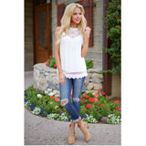 Tops high quality girls Fashion lace Vest Sleeveless t-Shirt Tops Casual Loose summer tops