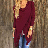 Womens Cardigan Tassels Fall Sweaters in 7 Colors and Small to Plus Sizes