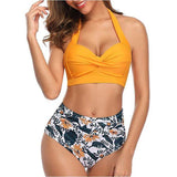 Womens High Waist Swimsuits in 8 Prints