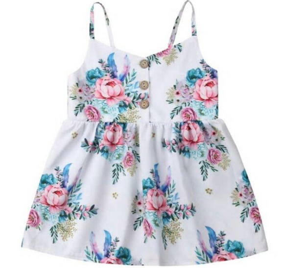Toddler Girls Adorable Floral Dresses