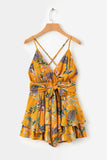 Super Cute Summer Jumpsuit Floral Romper in White or Yellow