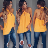 Sexy Women Fashion Top Sleeveless Backless Casual Tank Tops