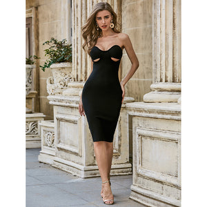 Strapless Bodycon Little Black Dress