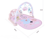 Baby Tummy Time Play Mat and Piano in Pink or Blue