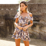 The Perfect Summer Chic Mini Dress Summer Floral Print Short Dresses