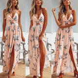 Summer Sleeveless Maxi Dress Vintage Women Beach Sexy Dress Fashion Elegant High Waist Long Dresses