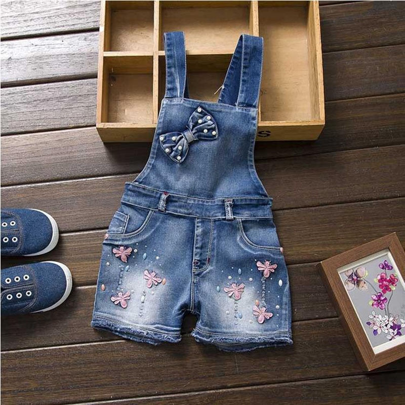 Toddler girl Overalls Jean Denim Overalls Jumpsuits
