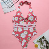 Womens Sexy One Piece Chic Floral Swimsuit