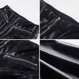 Womens Sexy Solid Black Slim Fit High Waist Sheath Leather Pants - Loving Lane Co