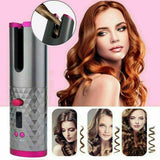 New! Cordless Wireless Automatic Hair Curler Portable Lightweight Hair Curling Iron