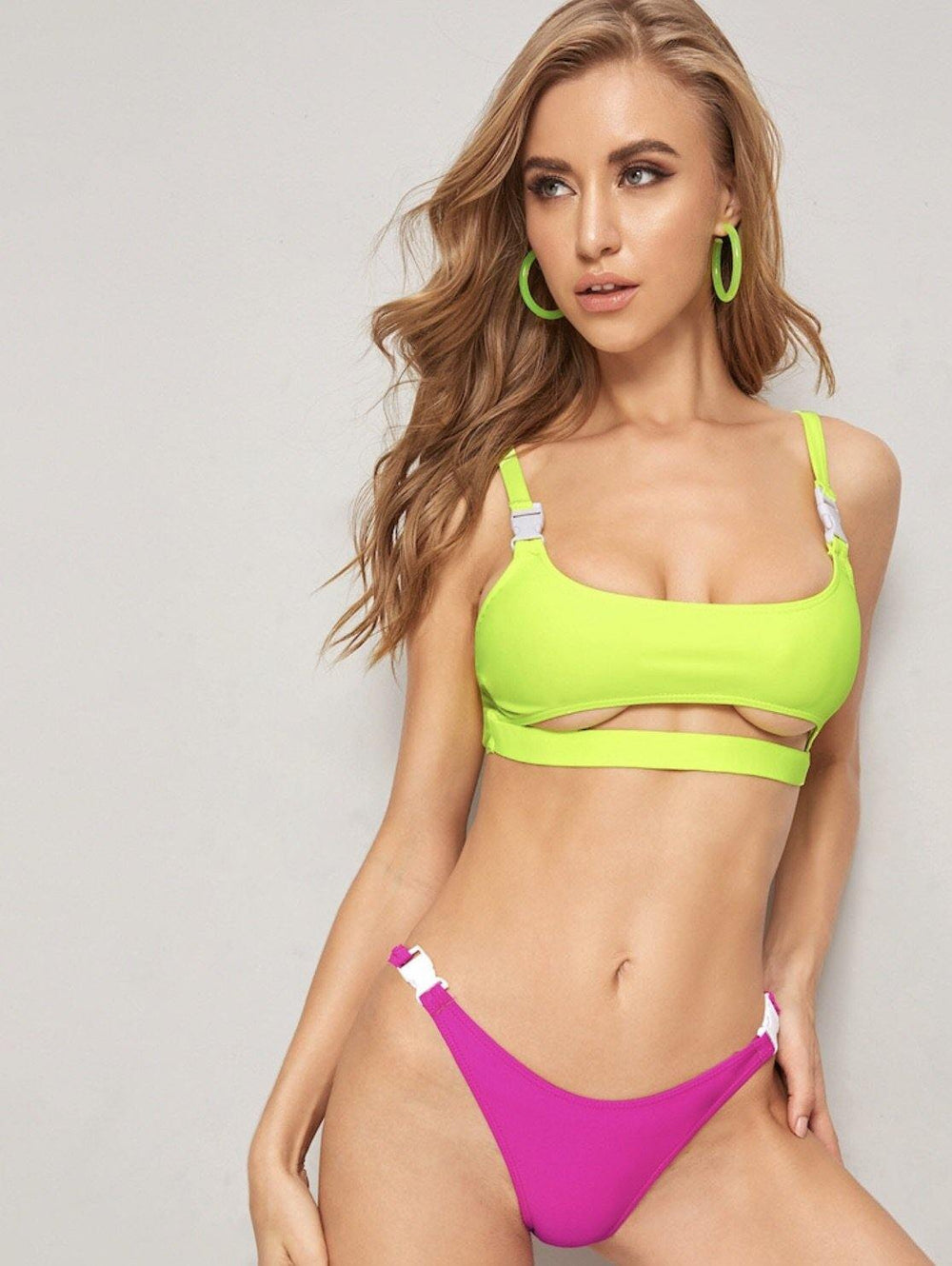 Bikini Summer Sale Pink And Yellow Swimsuit - Loving Lane Co