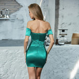 The Perfect Little Green Strapless cocktail Dress