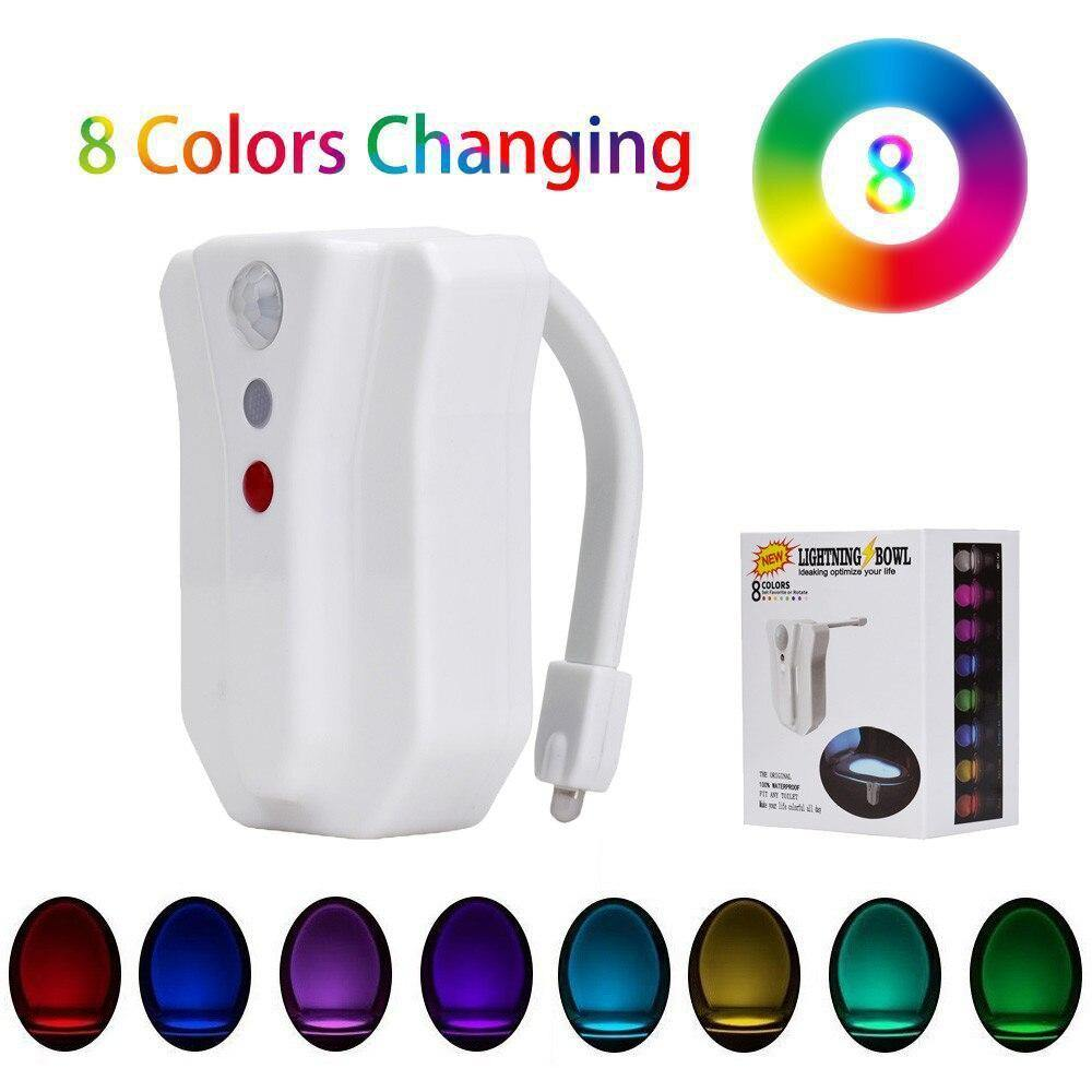 LED Toilet Light in 8 Colors - Loving Lane Co