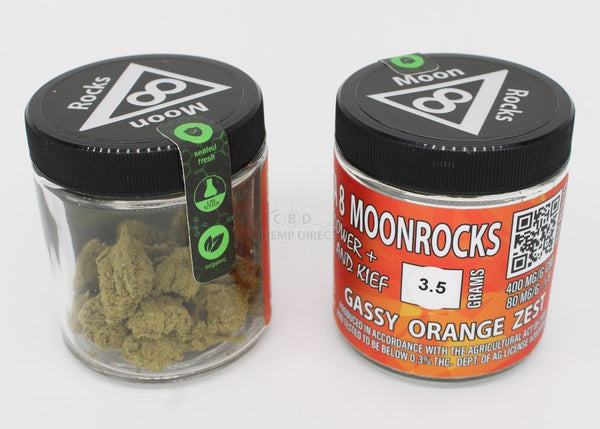 3.5 Grams Delta 8 Thc Moon Rocks - 400 Mg Cbd | 80 3 Strains Available Flower