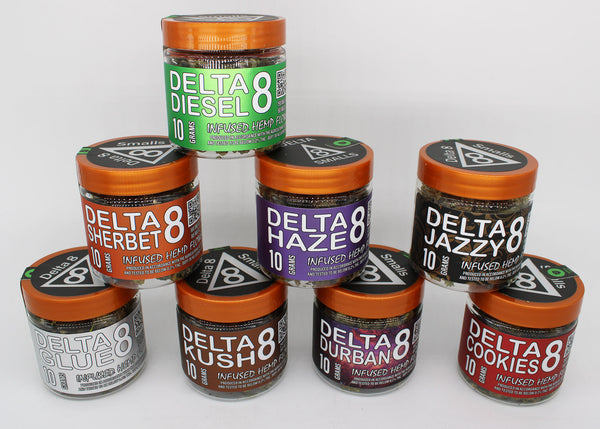 10 GRAMS DELTA 8 THC HEMP FLOWER SMALL BUDS - 8 STRAINS AVAILABLE