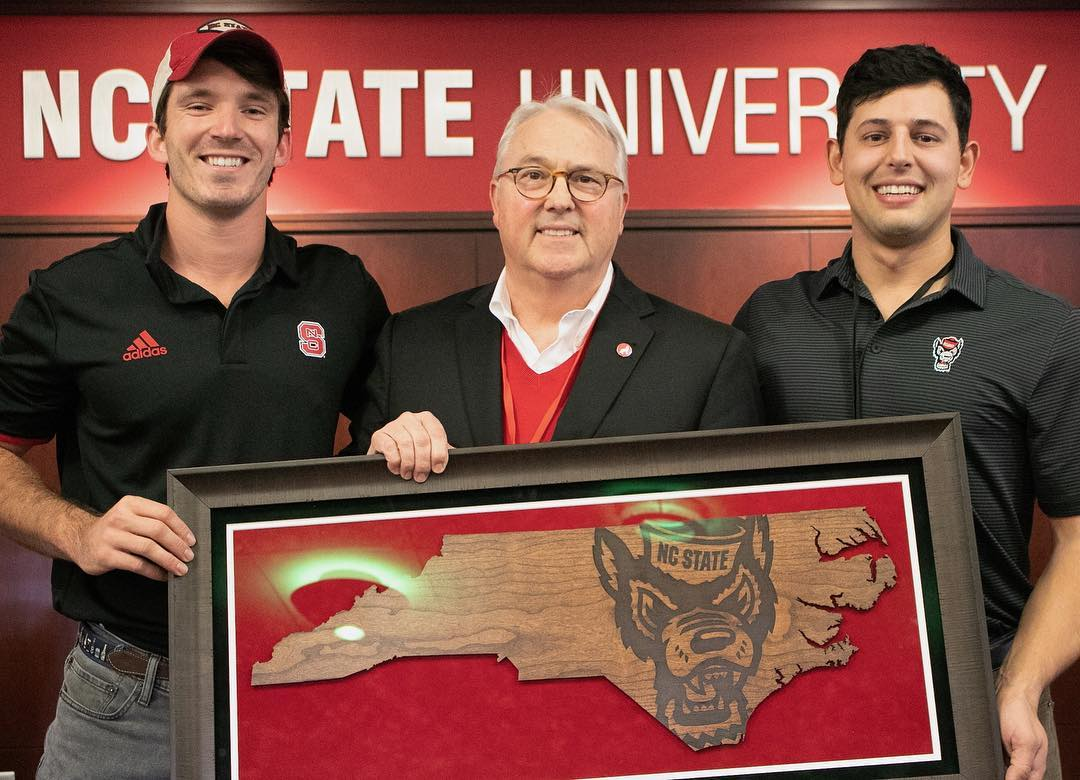 Entrepreneur, NC State, Spencer Coffin, Will Pfitzner, Randy Woodson, NC State Chancellor Gift