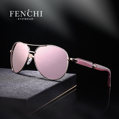 New design Pink Sunglasses with Mirror Glasses - Trendy Womens