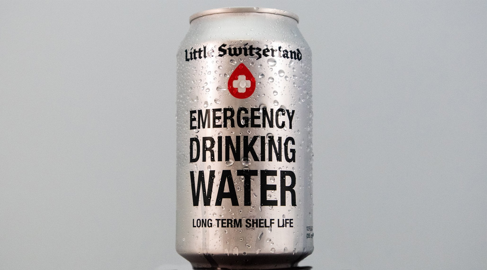 Emergency Water (24 12oz Cans) - Little Switzerland Water - canned water - emergency water - plastic bottle alternative