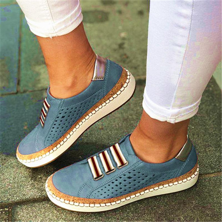 Women Hollow Out Round Toe Leisure Flats Shoes(Second -30% by code:BTS30)