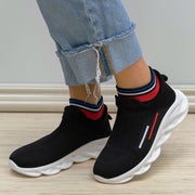 Women's Casual Slip On Athletic Fabric Sneakers