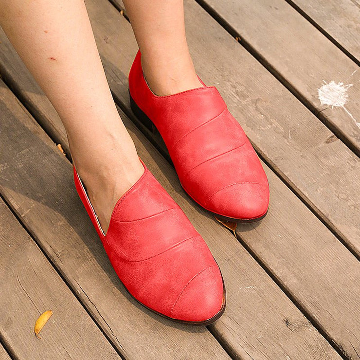 Women's Retr All Season Leather Loafers