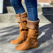 Women's Cozy Vintage Leather Knee High Boots