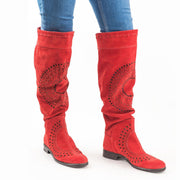 Women's Retro Knee High Cowboy Western Boho Boots
