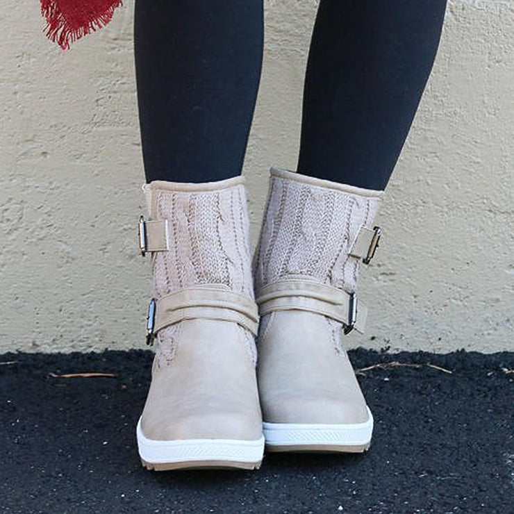 Women's Stylishly Snow Boots With Buckles