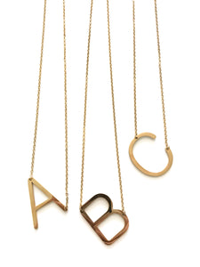 Minimalist Initial Necklace (GOLD)