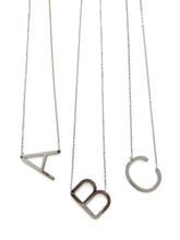 Load image into Gallery viewer, Minimalist Initial Necklace (SILVER)