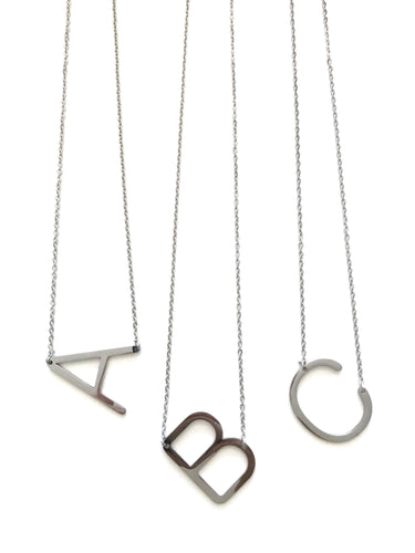 Minimalist Initial Necklace (SILVER)